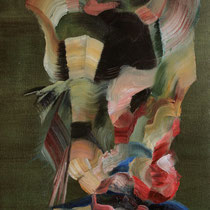 """""""Colgante I"""", óleo sobre tela, 65 x 30 cm"""