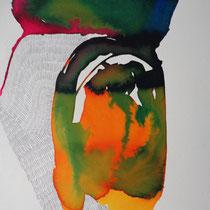 Prueba 2, tinta y lápiz sobre papel, 2012