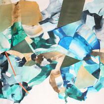 Sin título, 2016. Técnica mixta sobre tela, 150 x 200 cm