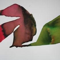 """""""E"""", tinta sobre papel, 20 x 27 cm"""