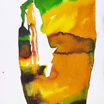 """Monolito III"", tinta sobre papel, 42 x 30 cm"