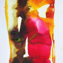 """""""Monolito IX"""", tinta sobre papel,  42 x 30 cm"""