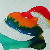 Prueba 4, tinta y lápiz sobre papel, 2012