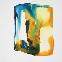 """Monolito XI"", tinta sobre papel,  42 x 30 cm"