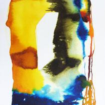 """Monolito IV"", tinta sobre papel, 42 x 30 cm"