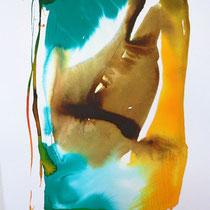 """Monolito VII"", tinta sobre papel,  42 x 30 cm"