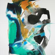 Paper VII, técnica mixta sobre papel, 40 x 30 cm.