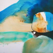 """""""Acetabulo"""", óleo y acrílico sobre lienzo, 61 x 65 cm"""