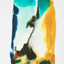 """Monolito XII"", tinta sobre papel,  42 x 30 cm"