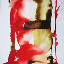 """Monolito II"", tinta sobre papel, 42 x 30 cm"