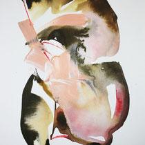 Paper V, técnica mixta sobre papel, 40 x 30 cm.