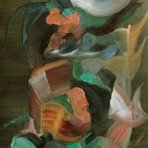 """Colgante II"", óleo sobre tela, 65 x 30 cm"