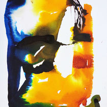 """Monolito VI"", tinta sobre papel,  42 x 30 cm"