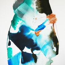 Paper IV, técnica mixta sobre papel, 40 x 30 cm.