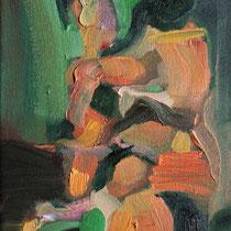 Sin título, óleo sobre lienzo, 14 x 24 cm