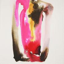 """""""Monolito X"""", tinta sobre papel,  42 x 30 cm"""