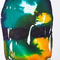"""Monolito VIII"", tinta sobre papel,  42 x 30 cm"