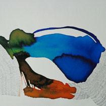 Prueba 3, tinta y lápiz sobre papel, 2012