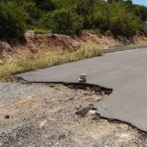 l'état des routes, encore des trous, des grands trous !