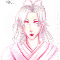 Umeko - The last (?) sketch with colored pencils.