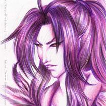 Karasu -  This time I felt like using a limited choice of colors.