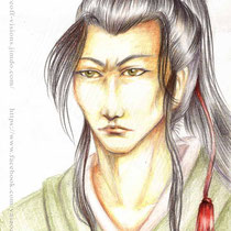 Seiichiro - The first of a few sketches using colored pencils.