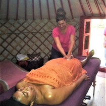 Massage en yourte