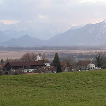 Blick über Hagen ins Murnauer Moos