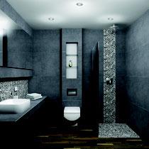 Badezimmernischen als Abstellfläche