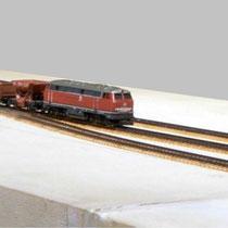 Modul 3 , Zug aus Richtung Schmalkalden einfahrend auf Gleis 1