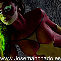 body paint spidewoman, bodypainting spiderwoman, body paint spider woman