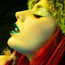 modelo alternativa, maquillaje maytte matey, moda steampunk, evelhyne