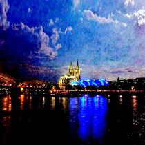 Vom anderen Ufer – Dom zu Köln, Limitierter Fotoabzug 68 x 48cm, 150,- €