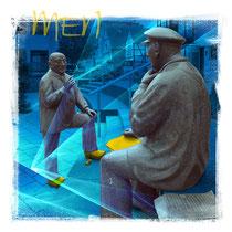 THE MEN, 40 x 40 cm, Print auf Leinwand und Acrylfarbe, 140,- €