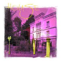 THE HOUSE, 40 x 40 cm, Print auf Leinwand und Acrylfarbe, 140,- €