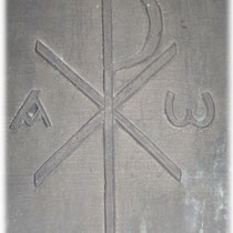 Relief: Christusmonogramm