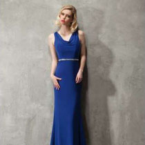 Elegantes blaues Abendkleid
