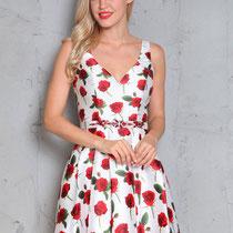Abendkleid mit Blumen