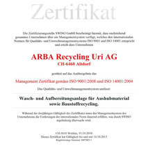 QS Dokument ISO 9001 Qualität // ISO 14001 Umwelt ARBA