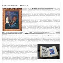 """""""Esotico Gauguin: La Barque"""" a cura della Dott.ssa  Tamara Follesa"""