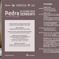 """Programma Conferenza """"Pedra_Frammenti di paesaggio"""""""