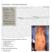 """""""Nu Blonde e i Record Modigliani"""" a cura della Dott.ssa Tamara Follesa"""