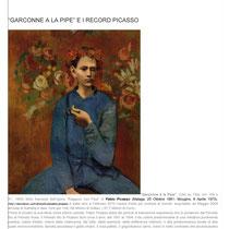 """""""Garconne a la Pipe e i Record Picasso"""" a cura della Dott.ssa Tamara Follesa"""