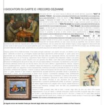 """""""I Giocatori di Carte e i Record Cézanne"""" a cura della Dott.ssa Tamara Follesa"""
