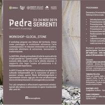 """Programma workshop """"Glocal Stone"""" tenuto all'interno delle due giornate di """"Pedra_Frammenti di paesaggio"""""""