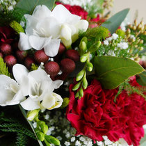 DA3 studio fiori per matrimonio stile rustico e rosso