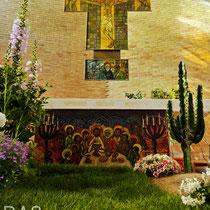 DA3studio DAtelier Allestimenti Venezia Pasqua chiesa parrocchia Campalto S.S. Martino e Benedetto