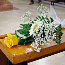 DA3 studio fiori per matrimonio giallo e bianco