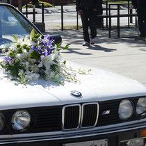 DA3 studio fiori per matrimonio bianco e blu. Collaborazione con Stefano Dri