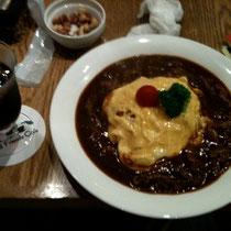 「オム・ハヤシライス」美味しかったです!